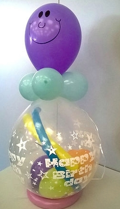 Art + Creativ Bieber – Luftballon Verpackung Happy Birthday