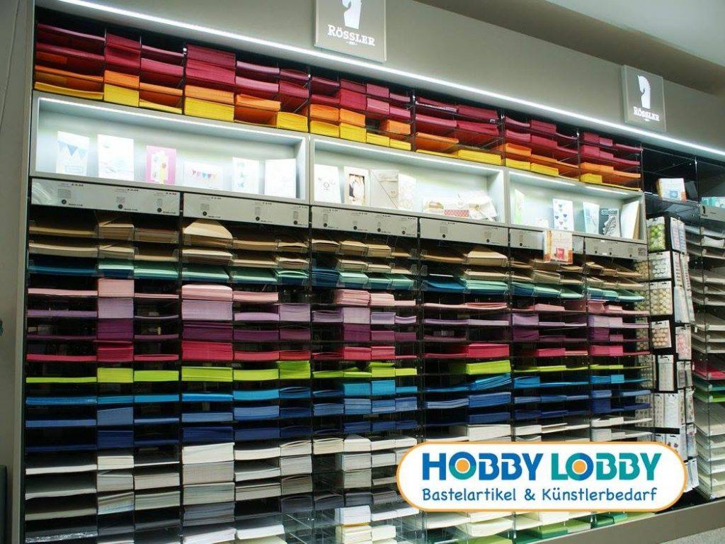Die Rössler Papier Präsentationswand der Hobby Lobby in Emsdetten