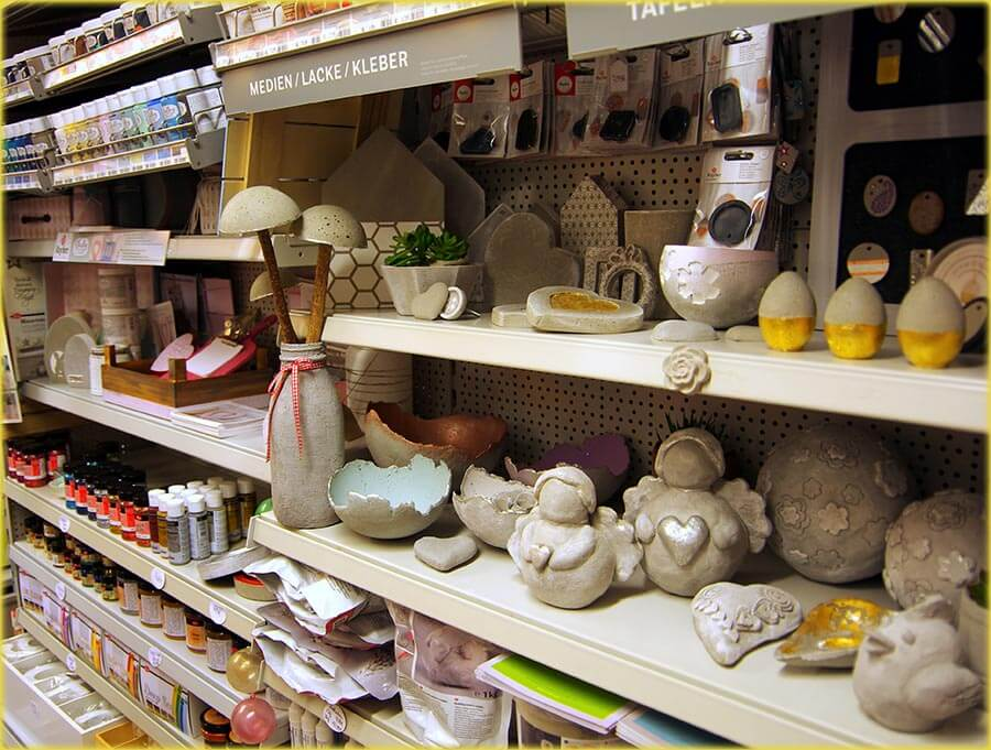 Creativ Shop – Sortiment Bastelmaterial