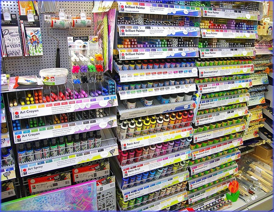 Creativ Shop – Sortiment Farben