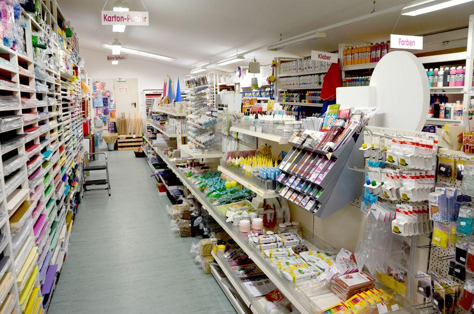 Bastelavista – Geschäft Innenansicht Bastelbedarf