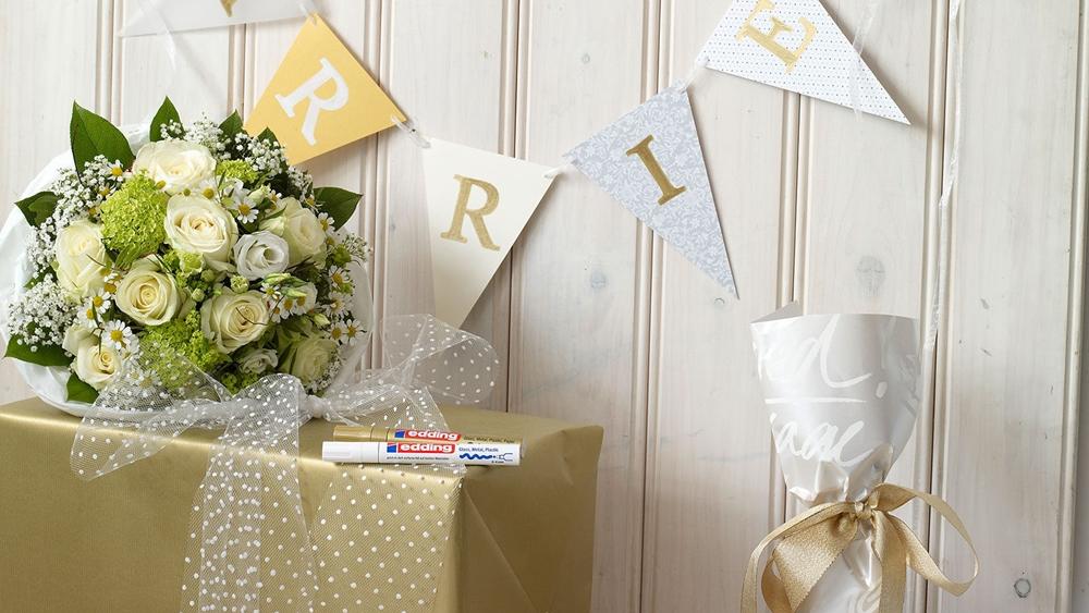 Traumhochzeit in Weiß-Gold – Edding Hochzeit 1