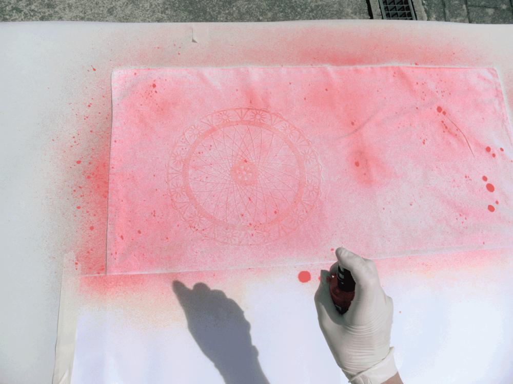 Marabu Spray Textil Bettwäsche Leintuch – Step 2