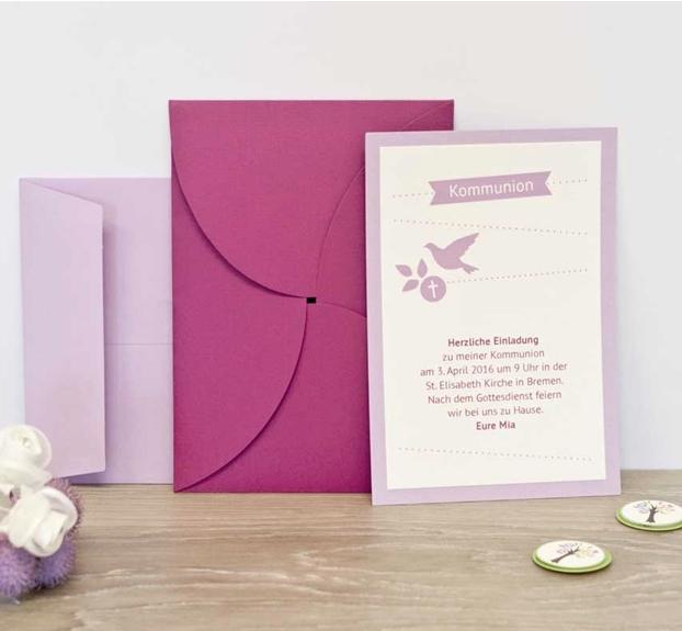 Einladungskarten zur Kommunion von Rössler Papier