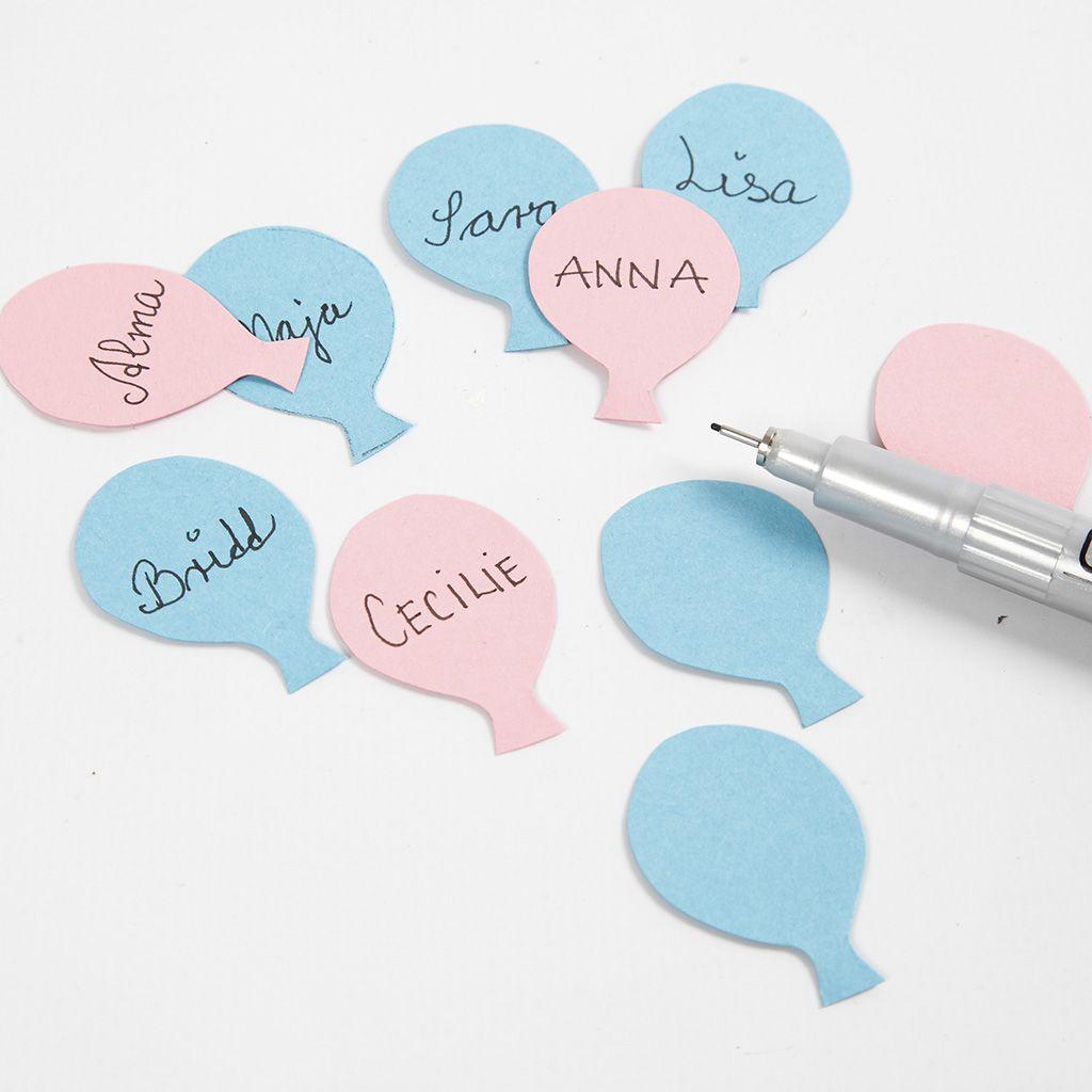 Fünfter Schritt – Gästenamen auf den Luftballons mit Medaillon-Stift schreiben
