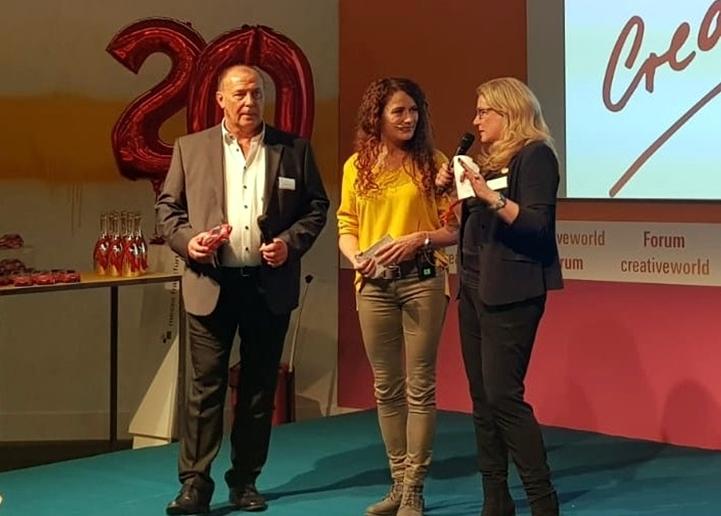 AC auf der Bühne Peter, Martina und Astrid