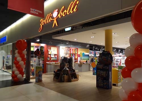Amsler Spielwaren AG in der Shopping Arena, der Eingangsbereich