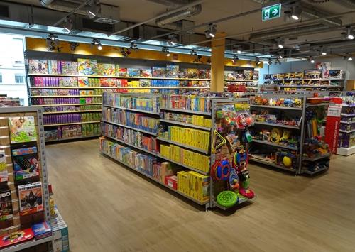 Amsler Spielwaren AG mit Blick auf die Spielwarenabteilung