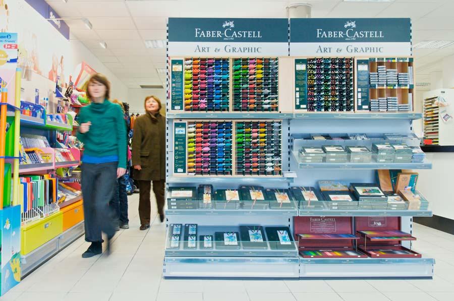 Format-Darmstadt GmbH – Präsentationsregal von Faber-Castell