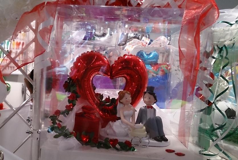Heylands Bastelshop das Foto zeigt eine Geschenkverpackung zur Hochzeit