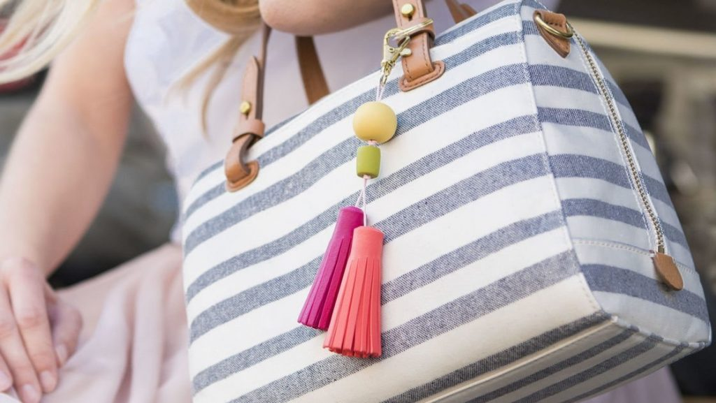 Taschen-Accessoires aus Fimo Leder-Effekt.