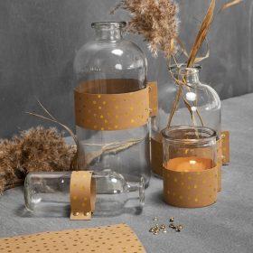 Kreatives Design auf Glas