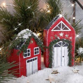 Weihnachtliche Holz Häuser