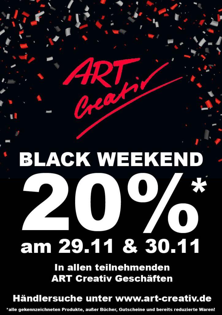 Plakat mit Hinweis aus das Black Weekend.