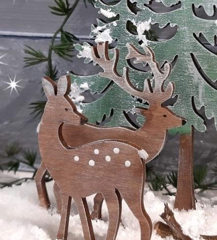 Die Detailansicht vom Winterwald.