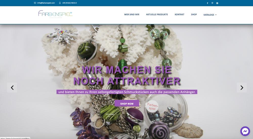 Farbenspiel GmbH – Anbieter für Modeschmuckzubehör und Perlen aller Art