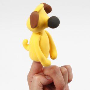 Die Einzelteile von Bitzer dem Hund werden modelliert.