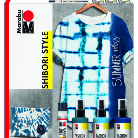 Shibori-Technik mit Marabu Fashion Spray