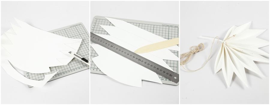 Steps für ein Faltblatt aus Leder-Imitat.