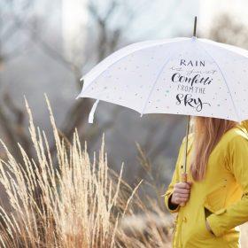 Spaziergang im Confetti-Regen