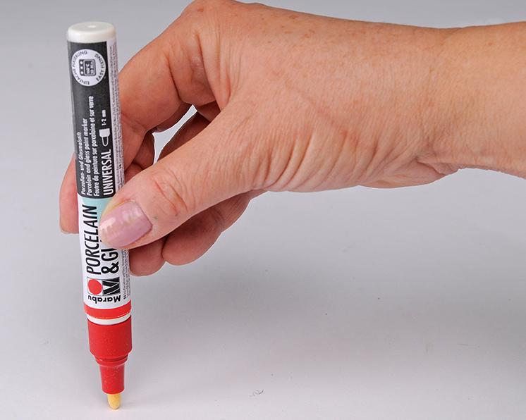 Ein Stift wird durch Pumpen aktiviert.