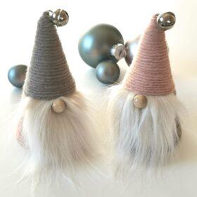 Weihnachtswichtel in Pastellfarben