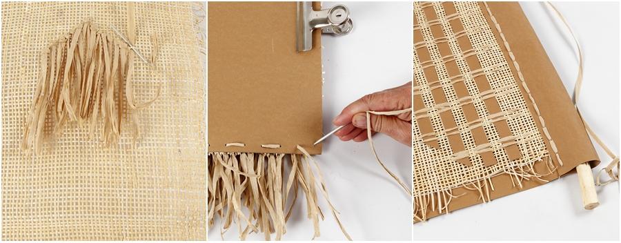 Eine Wanddeko aus Kunstlederpapier, in 3 Schritten erklärt