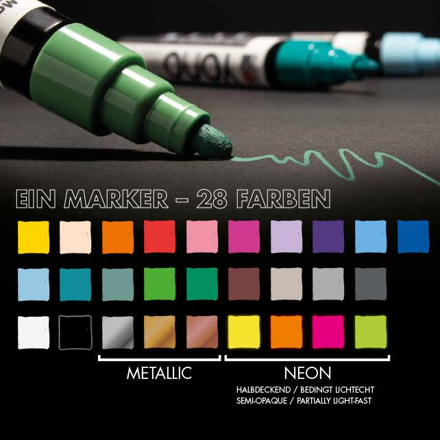 Farbkarte vom YONO Marker