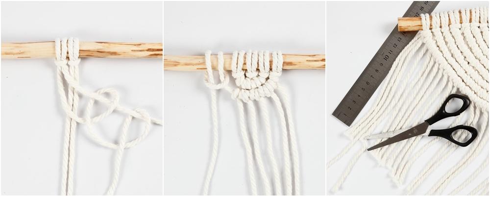Wandbehang in der Makramee-Technik Step-by-Step