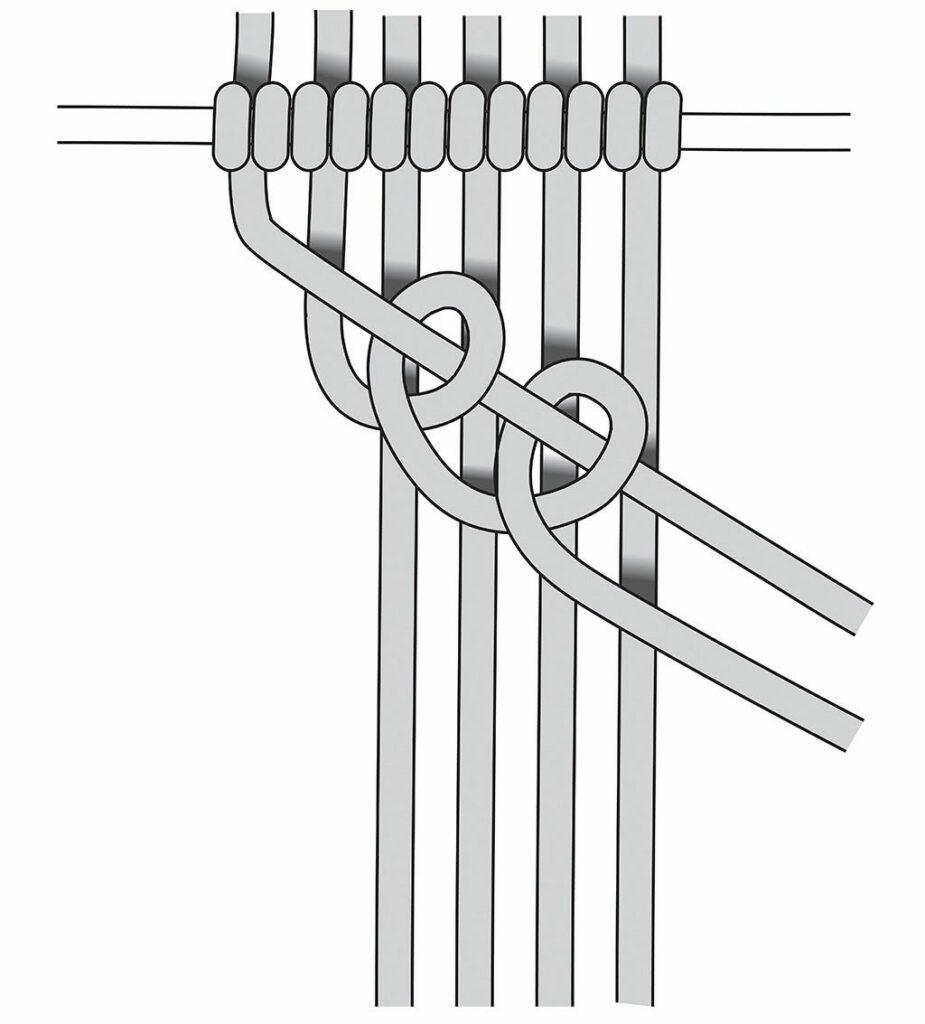 Zeichnung Knüpftechnik